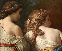 Lagrenee | Two Nymphs, c.1765 | Giclée Canvas Print