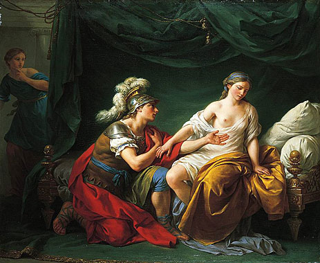 Alcibiades on His Knees Before His Mistress, c.1781 | Lagrenee | Painting Reproduction