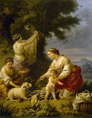 The Complacent Mother, 1771 | Lagrenee | Painting Reproduction