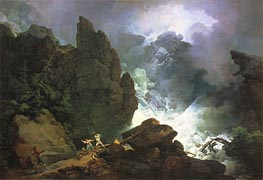 An Avalanche in the Alps, 1803 by de Loutherbourg | Giclée Canvas Print