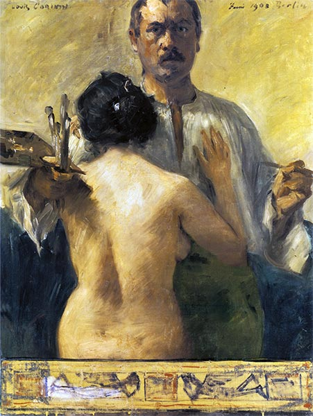 Self-Portrait with Model, 1903 | Lovis Corinth | Painting Reproduction
