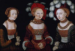 Lucas Cranach | The Princesses Sibylla, Emilia and Sidonia of Saxony | Giclée Canvas Print