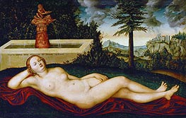 Lucas Cranach | Reclining Water Nymph | Giclée Canvas Print