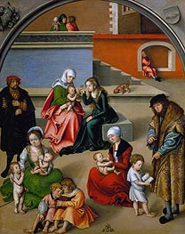 Lucas Cranach | The Holy Kinship | Giclée Canvas Print