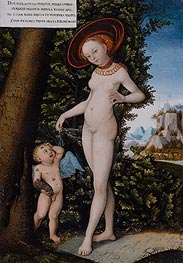 Venus with Cupid the Honey Thief, undated by Lucas Cranach | Giclée Canvas Print