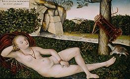 Reclining Water Nymph, c.1540/50 by Lucas Cranach | Giclée Canvas Print