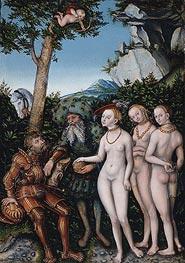 Judgment of Paris, 1530 by Lucas Cranach | Giclée Canvas Print