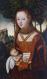 Lucas Cranach | Young Mother with Child (Penance of St. John Chrysostom) | Giclée Canvas Print