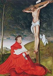 Lucas Cranach | Cardinal Albrecht of Brandenburg Kneeling before Christ on the Cross | Giclée Canvas Print