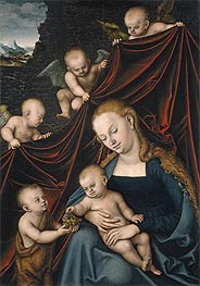 The Virgin with the Christ Child, Saint John and Angels, 1536 by Lucas Cranach | Giclée Canvas Print