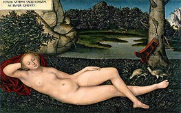 The Nymph at the Fountain, c.1530/34 by Lucas Cranach | Giclée Canvas Print