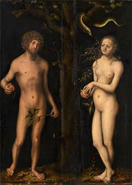 Adam and Eve, undated by Lucas Cranach | Giclée Canvas Print