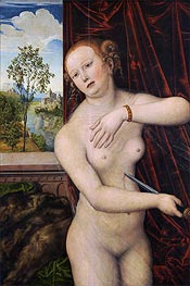 Lucas Cranach | The Suicide of Lucretia, c.1518 | Giclée Canvas Print