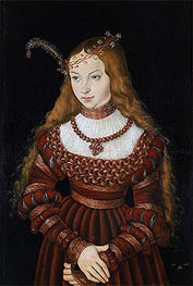 Lucas Cranach | Portrait of Princess Sibylle of Cleve, 1526 | Giclée Canvas Print