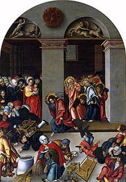 Lucas Cranach | Expulsion of the Money-Changers from the Temple | Giclée Canvas Print