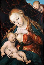 Lucas Cranach | The Virgin Nursing the Child, c.1530/35 | Giclée Canvas Print