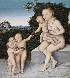 Charity, c.1540 by Lucas Cranach | Giclée Canvas Print