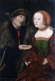 Lucas Cranach | An Ill-Matched Couple, c.1520/40 | Giclée Canvas Print