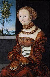Lucas Cranach | Portrait of a Young Woman (Sibylle of Cleve), c.1526 | Giclée Canvas Print