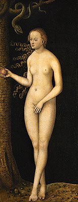 Eve, 1537 | Lucas Cranach | Painting Reproduction