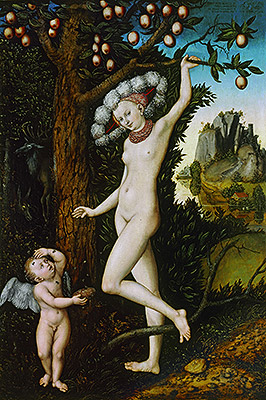 Cupid Complaining to Venus, c.1525 | Lucas Cranach | Painting Reproduction