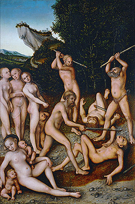 The Silver Age (The Effects of Jealousy), 1535 | Lucas Cranach | Painting Reproduction