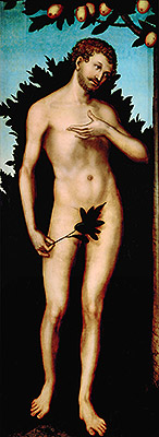 Adam, 1533 | Lucas Cranach | Painting Reproduction