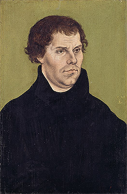 Lucas Cranach | Portrait of Martin Luther, Aged 43, 1525 | Giclée Canvas Print
