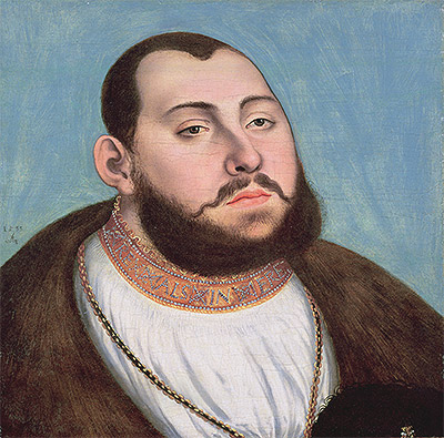 Portrait of John Frederic the Magnanimous Elector of Saxony, 1533 | Lucas Cranach | Painting Reproduction