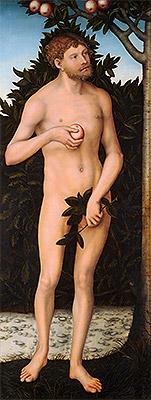 Adam, c.1537 | Lucas Cranach | Painting Reproduction