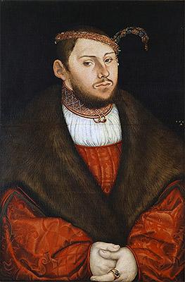 Prince-Elector Johann Friedrich of Saxony, 1526 | Lucas Cranach | Painting Reproduction