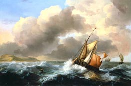 Bakhuysen | Fishing Vessels Offshore in a Heavy Sea | Giclée Canvas Print