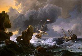 Bakhuysen | Ships in Distress off a Rocky Coast | Giclée Canvas Print