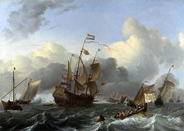 Bakhuysen | The 'Eendracht' and a Fleet of Dutch Men-of-war | Giclée Canvas Print