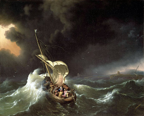 Christ in the Storm on the Sea of Galilee, 1695 | Bakhuysen | Painting Reproduction