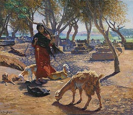 Ludwig Deutsch | The Young Goat Herder of Shobrah, Egypt, 1911 | Giclée Canvas Print