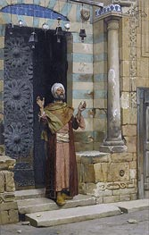 Ludwig Deutsch | At the Door of the Mosque, 1886 | Giclée Canvas Print