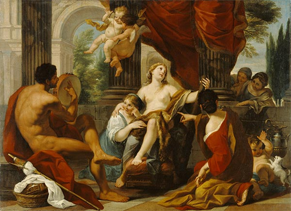 Hercules and Omphale, c.1700/10 | Luigi Garzi | Painting Reproduction
