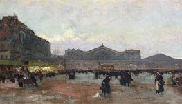 Luigi Loir | The Gare de l'Est, undated | Giclée Canvas Print