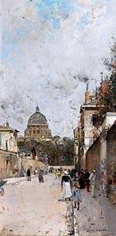Luigi Loir | La rue du Val de Grace, undated | Giclée Canvas Print