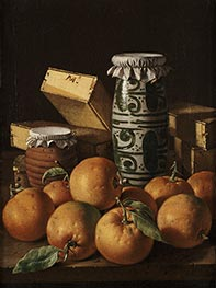 Still Life with Oranges, Jars, and Boxes of Sweets, c.1760/65 by Luis Egidio Meléndez | Giclée Canvas Print