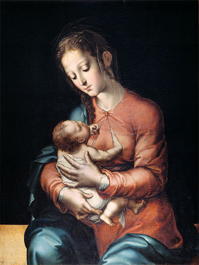 Madonna and Child, c.1565 | Luis de Morales | Painting Reproduction