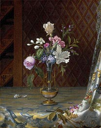 Martin Johnson Heade | Vase of Mixed Flowers | Giclée Canvas Print
