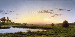 Martin Johnson Heade | Haystacks on the Newburyport Marshes, 1862 | Giclée Canvas Print