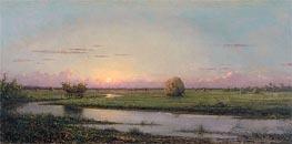 Martin Johnson Heade | Sunset over Newburyport Meadows, 1904 | Giclée Canvas Print
