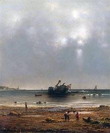 Martin Johnson Heade | The Old Shipwreck | Giclée Canvas Print