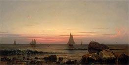 Martin Johnson Heade | Sailing off the Coast, 1869 | Giclée Canvas Print