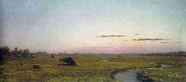 Martin Johnson Heade | Winding River, Sunset, c.1863 | Giclée Canvas Print