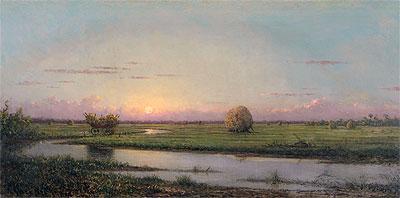 Sunset over Newburyport Meadows, 1904 | Martin Johnson Heade | Painting Reproduction