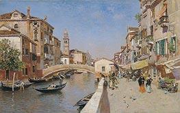Martin Rico y Ortega | San Lorenzo River with the Campanile of San Giorgio dei greci, Venice, c.1900 | Giclée Canvas Print